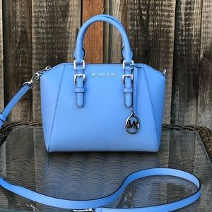NWT Michael Kors medium ciara handbag French Blue